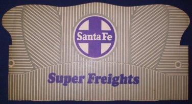 Paper Super Freights Railroad Santa Fe Conductor Hat Cap Tra