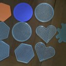 Perler Peg Boards Melt Fuse Bead Shapes Lot 10 Hexagon Circle Heart Bug