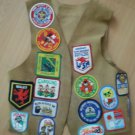 Cub Scout Leather Vest 1990s Badges Patches Boy Scout BSA Orange County