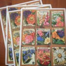 Hallmark Stickers Flower Seed Packets 4 sheets Loose Unused