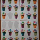 Hallmark Stickers Groovy Flower Pots 4 sheets Loose some used