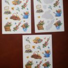 Vintage Stickers Hallmark Flowers Bouquets Garden Hat 2.5sheets 1995