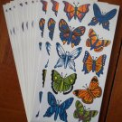 Vintage Butterfly Stickers Lot 12 sheets 10/sheet OTC 9421 Colorful