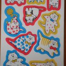 Current Stickers Cat Whimsical Fat 1 sheet Loose 1991 16746-5