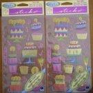 Cathy B Sticko Stickers Vellum Patty Cakes SPVC07 Lot 2