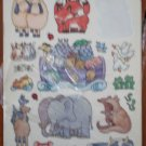 Stickers Noah's Ark Carlton Cards 4 sheets AGC Animals