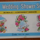 Wedding Shower Seals Stickers Eureka Paper Magic Company Vintage EU 85409