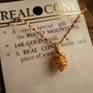 Necklace Real Cone Pendant 14K Finish Rocky Mountains