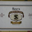 See's Seegar Box Chocolate Cigar Empty Container