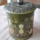 Vintage Daher Container Tin Green Country Home