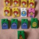 Lego McDonalds Slope Characters Lot 13 3x2 29226