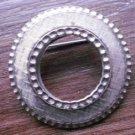 Silver Tone Round Scarf Clip Pin Brooch Vintage Broach