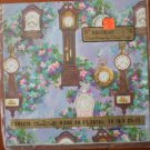 Birthday Gift Wrap Charm Craft Clock Grandfather 8.35ft Vintage Wrapper 2 sheets