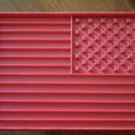 US Flag Cookie Cutter American USA Red Plastic Vintage 10.5 x 7.5cm