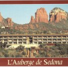 L'Auberge de Sedona AZ Postcard 1987 Bob Bradshaw Red Rocks
