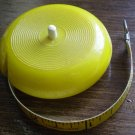 Vintage Tape Measure Canister Yellow Measuring West Germany