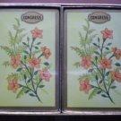 Congress Playing Cards Cel U Tone Sealed Yellow Peach Flowers 2 decks