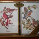 Congress Playing Cards Birds Cardinal Eastern Bluebird Cel-U-Tone Finish 2 decks