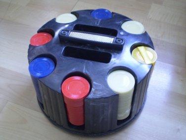 Pleasantime Poker Chips Rack Revolving In Box 2043 12-015 20