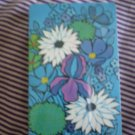 Bridge Playing Cards Plastic Coated Blue Flowers Sealed