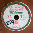 Strawberry Shortcake Ribbon Vintage 1in Christmas 24ft Plus Mark 1971 USA