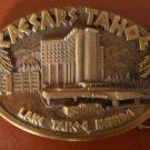 Caesars Tahoe Belt Buckle Lake Tahoe Nevada 1983 Siskiyou Casino Hotel