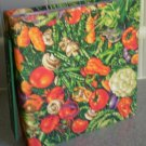 Recipe Book Binder Album Vegetable Fabric Cover Spiral Cards