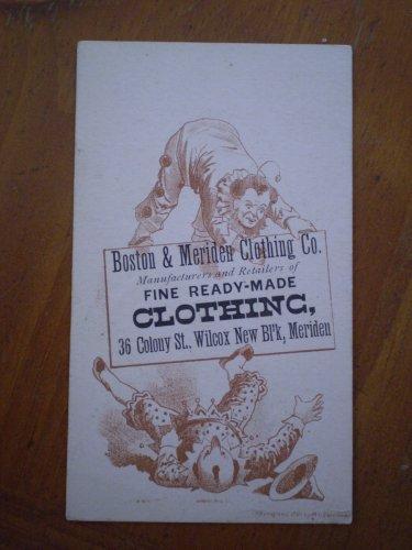Boston Meriden Clothing Co Trading Trade Card