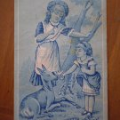Boston and Meriden Deer girls Vintage Trading Trade card