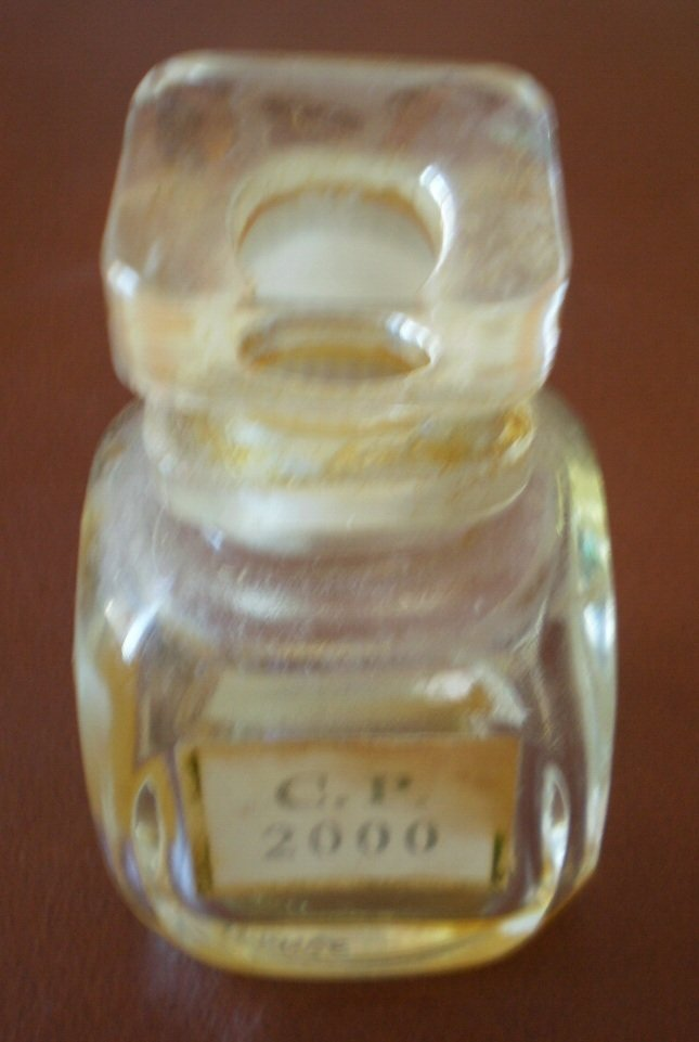 Vintage Perfume Bottle CP 2000 Empty France Glass