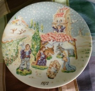1972 Royal Limoges Plate Noel Nativity Roch Popelier