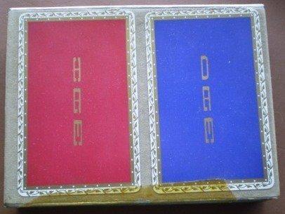 Congress Playing Cards Blue Red Monogram Ham Dam