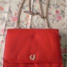Vintage Charles Jourdan Red Leather Shoulder Bag Iran