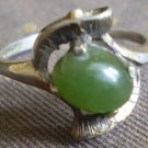 Sterling Silver Jade Ring Vintage Green 6 3/4 VH