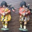 Metal Soldier Bagpipe Scotland Scottish Kilt Britain Vintage
