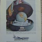 Boeing Jetliners Vacation Size Vintage Ad 1963 Globe Suitcase