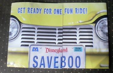 Disneyland 50th Mailer Monsters Inc Monstropolis Ride