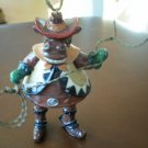 Cow Cowboy Ornament Lasso Christmas Decoration Figure