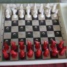 Vintage Travel Chess Set Miniature Germany Plastic Complete