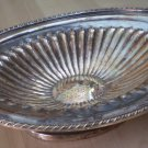 Sheffield Reproduction Silver Plate Footed Tray Vintage Bowl 6524