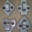Vintage Cookie Cutter Playing Card Suits Metal Club Spade Heart Diamond