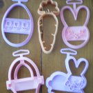 Cookie Cutters Easter Wilton Bunny Carrot Egg Lot 5 Plastic Rabbit