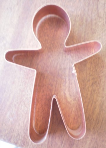 Copper Cookie Cutter Gingerbread Man Spun Sugar Metal 5in