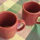 Longaberger Woven Traditions Paprika Mug 12oz Lot 2 Vitrifie