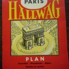 Hallwag Paris Map Plan Sights Monuments Metro 1957