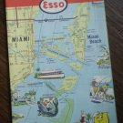 Miami Florida East Coast Esso Map 1962 General Drafting Humble Oil