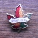 Montreal Canada Maple Leaf Pin Enamel Gold Tone metal