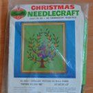 Vintage Bucilla Kit Partridge In A Pear Tree Christmas Needlecraft 8043 Jeweled Picture Wall Panel
