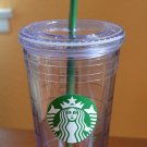 2012 Starbucks 16oz Cold Clear Tumbler Write On Cup Plastic