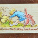 Pooh and Friends Rubber Stamp 712F All Night Media Disney Wood Mounted